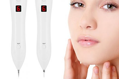 Mole Remover USB Rechargeable Dot Mole Removal Pen Set-Safe Portable Spot Eraser Beauty Tool Kit With LCD Screen For Face Dark Freckle Age Spot Tattoo Nevus Skin Tag Pigmentation
