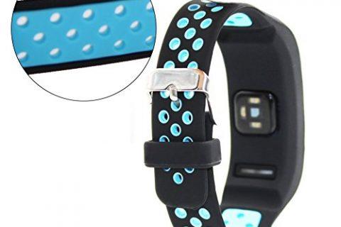 Garmin Vivosmart HR Replacement Band-Budesi Silicone Bracelet Wristband with Screwdriver for Garmin vivosmart HR Black-blue F