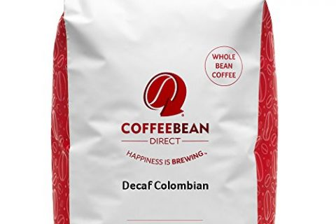 Coffee Bean Direct Decaf Colombian, Whole Bean Coffee, 5-Pound Bag
