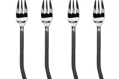 Gourmet Settings Treble Clef Stainless Steel Cocktail Forks.  Set of 4