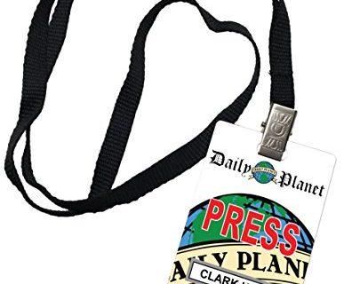 Clark Kent Daily Planet Press Pass Novelty ID Badge Prop Costume
