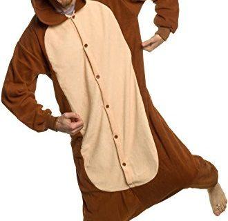 Plush One Piece Cosplay Monkey Animal Costume S – Silver Lilly Adult Pajamas