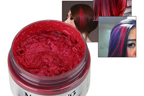 Sunsent 7 Colors Hair Care Hair Wax Matte Hairstyle Pomades Red