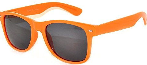 Classic Vintage Smoke Lens Orange Frame Sunglasses Retro Style OWL.