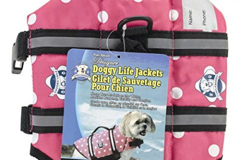 Fido Pet Products Paws Aboard Doggy Life Jacket, X-Small, Pink Polka Dot