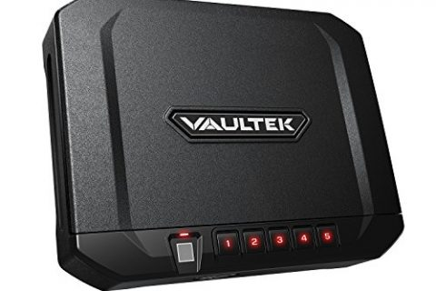 Vaultek VT10i Lightweight Biometric Handgun Safe Smart Pistol Safe with Auto-Open Lid and Rechargeable Battery
