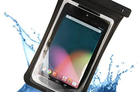iPad Mini, Galaxy Tab 3 and more – Certified to 100 Feet – Universal Waterproof Sandproof Carrying Bag Case Pouch for 7″ Tablet