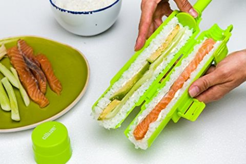 Allure Sushi Maker Roller Machine, Making Kit withTube, Locking Clips and Easy Release Plunger, Perfect Rolls Every Time