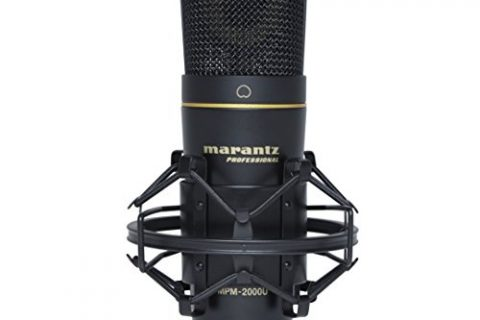 Marantz Professional MPM-2000U | Studio Condenser USB Microphone with Shock Mount, USB Cable & Carry Case USB Out