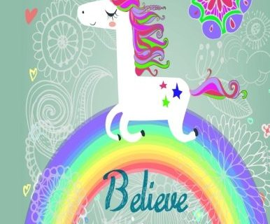Believe in Miracles A Unicorn Coloring Book Unicorn Coloring Books Volume 1