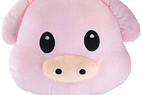 WEP Pig Piggy Emoji Pillow Smiley Emoticon Cushion Stuffed Colorful Plush Toy 32cm New