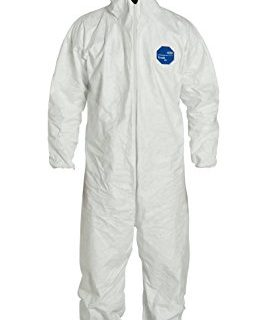 DuPont Tyvek 400 TY122S Disposable Protective Coverall with Elastic Cuffs,White, 3X-Large Pack of 25