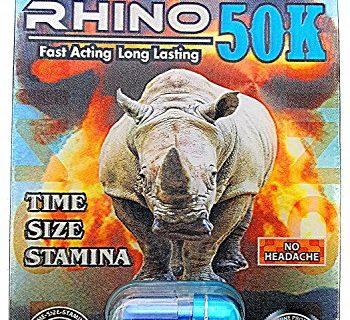 Rhino 50K Extreme Men Sexual Supplement Enhancement 3 Pills Pack