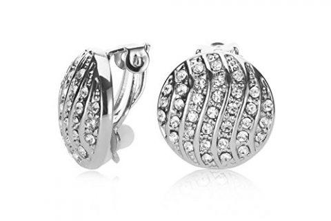 UPSERA Round Ear-Stud Clip Earrings for Women – No Pierced Clip-On Earrings – Gift Pouch Included
