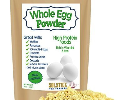 Powdered Whole Dried Eggs, Whole Dehydrated Egg Powder 1 pound, Great for Scrambled Eggs, Baking Mixes, Camping & More