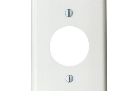 Leviton 80704-W 1-Gang Single 1.406-Inch Hole Device Receptacle Wallplate, White