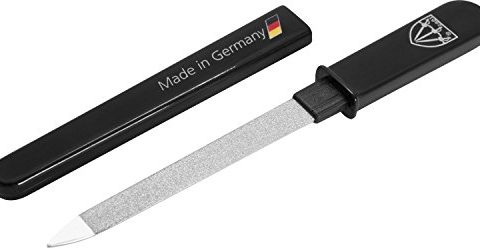 3 Swords Germany – brand quality double sided fine & coarse SAPPHIRE POCKET NAIL FILE manicure pedicure grooming for professional finger & toe nail care by 3 Swords, Made in Solingen Germany 82501