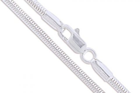 Sterling Silver Round Snake Chain 2.2mm 2.4mm 3mm 4mm 5mm Solid 925 New Brazilian Necklace