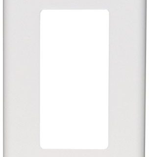 Leviton 80401-NW 1-Gang Decora/GFCI Device Decora Wallplate, Standard Size, Thermoplastic Nylon, Device Mount, 20-Pack, White