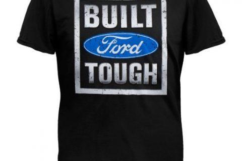 Ford Built Tough Black Hooded Sweatshirt, X-Large