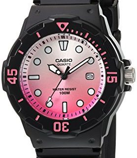Casio Women's 'Dive Series' Quartz Resin Casual Watch, Color Black Model: LRW-200H-4EVCR