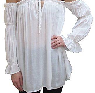 Anna-Kaci Womens Semi Sheer Boho Peasant Long Sleeve Off The Shoulder Top