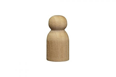 Little Baby / Game Pawn 1-1/8 inch – Bag of 10 – Wood Doll Bodies