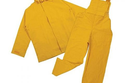 Stansport Commercial Rainsuit, Yellow, Small