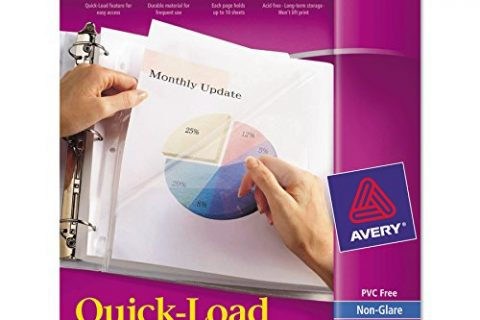 Avery 73803 Quick Top & Side Loading Sheet Protectors, Letter, Non-Glare Box of 50