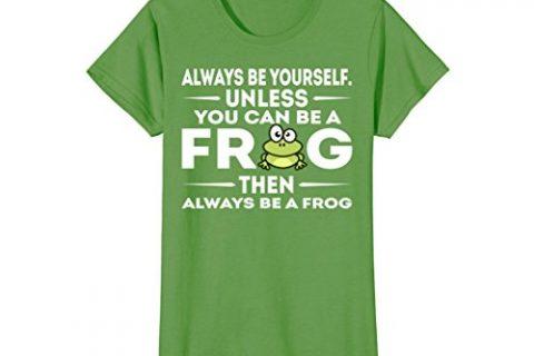 Womens Be A Frog T Shirt Gift XL Grass