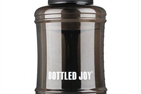 BOTTLED JOY 2.5L Large Capacity Water Bottle Handle,Sport Large Water Bottle Gym Drinking, Half Gallon Reusable BPA Free Water Bottle 83oz 2500ml,Big Water Bottle Gym Travel Outdoor Black