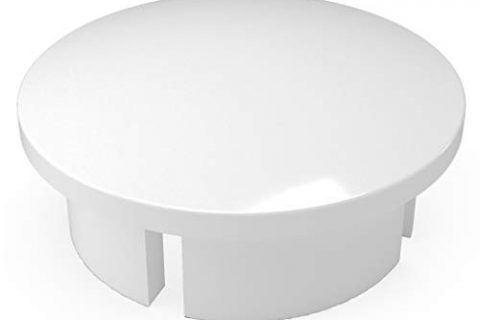 FORMUFIT F112IDC-WH-10 PVC Internal Domed End Cap, Furniture Grade, 1-1/2″ Size, White Pack of 10