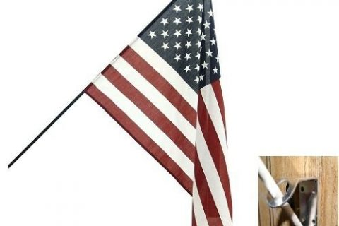 Classroom Flag – 2ft x 3ft size American Flag for schools with Steel Bracket House Banner Double Stitched Fade Resistant Premium Quality