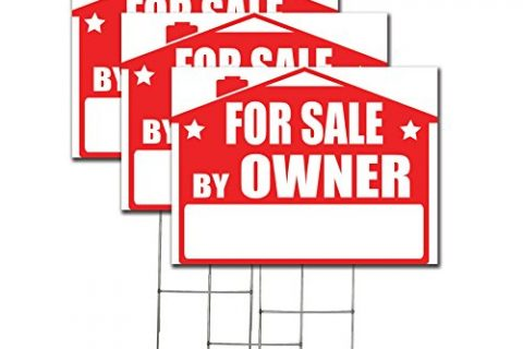 Visibility Signage For Sale By Owner Lawn Sign Kit with Giant Arrow Stickers 3