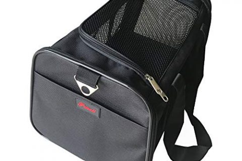 Pettall 17.5x11x10.5″ Pet Carrier for Small Cat Bag Dog Purse Airline-Approved Pet Carrier  Only for Under-Seat Dimensions Up to 10.5″