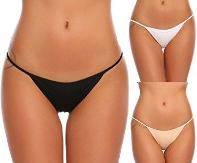 Ekouaer Soft Breathable Brief Panties Cotton Underwear for Women 3 Pack