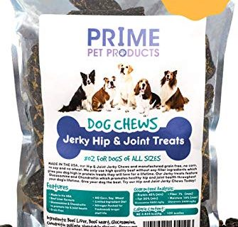 Best Grain Free Treat for Pain Relief – Healthy Jerky Dog Treats Made in USA 8oz Bag – No Corn, Soy or Wheat – Beef Liver Formula All Breeds – Source of Glucosamine Hip & Joint Supplement for Dogs