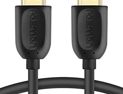 Fosmon 4K HDMI Cable 50 FT, Gold-Plated Ultra High Speed 10.2Gbps UHD 2160p@30Hz 3D HD 1080p Supports Fire TV, Apple TV, Ethernet, Audio Return, Xbox PlayStation PS3 PS4 PC