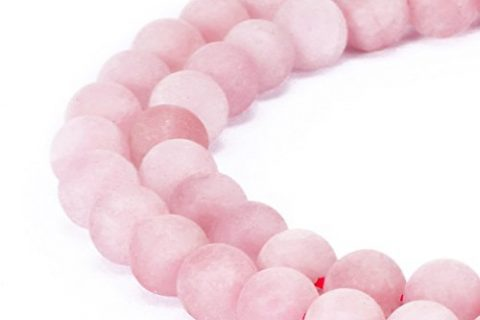 BRCbeads Rose Quartz Natural Gemstone Loose Beads 8mm Matte Round Crystal Energy Stone Healing Power for Jewelry Making