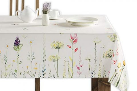 Maison d' Hermine Botanical Fresh 100% Cotton Tablecloth 60 Inch by 108 Inch
