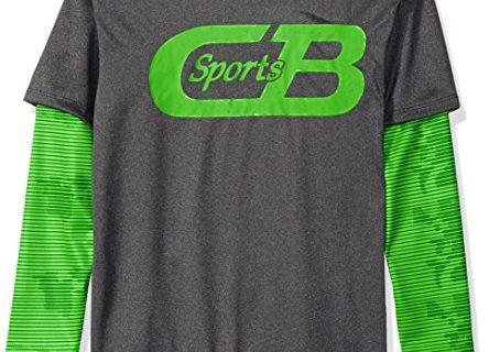 CB Sports Boys' Athletic Long Sleeve Hangdown T-Shirt