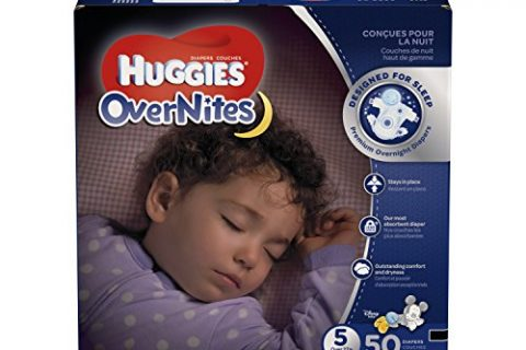 HUGGIES OverNites Diapers, Size 5, 50 ct, BIG PACK Overnight Diapers Packaging May Vary