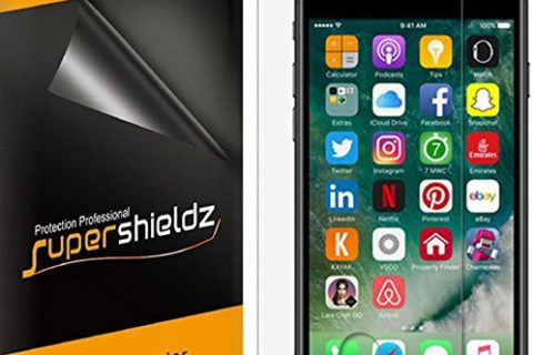 6-Pack Supershieldz for iPhone 8 / iPhone 7 Screen Protector, Anti-Bubble High Definition Clear Shield + Lifetime Replacements Warranty- Retail Packaging