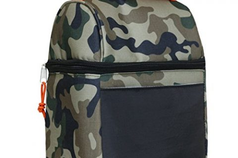 Insulated Lunch Bag With Wide Opening Zipper For Men Boy and Women Girls Kids Camoflage
