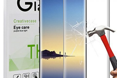 Galaxy Note 8 Screen Protector,Note 8 Tempered Glass,Creativecase Bubble-Free Anti-Scratch 3D Curved Full Coverage Screen Protector for Note 8