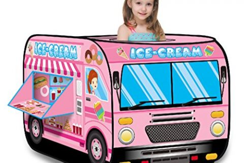 Liberty Imports Kids Pop Up Play Tent | Foldable Indoor/Outdoor Playhouse for Toddlers, Boys and Girls Ice Cream Truck