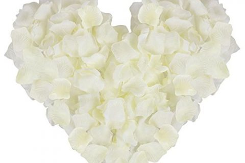 Jasmine 1000 PCS Non-Woven Wedding Petals Rose Petals for Flower Girl Bridal Shower Hotel Home Flower DecorationIvory