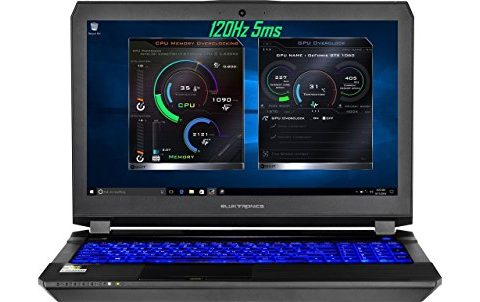 Eluktronics P650HS-G VR Ready 15.6″ 120Hz 5ms Gamers Edition Laptop PC – Intel i7-7700HQ Quad Core Windows 10 Home 8GB GDDR5 NVIDIA GeForce GTX 1070 + G-SYNC 256GB SSD + 1TB HDD 16GB DDR4 RAM