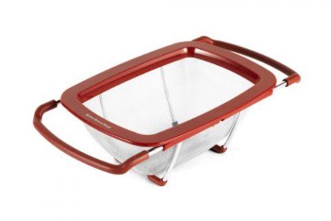 KitchenAid Expandable Colander/Strainer, Red