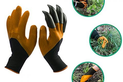 Garden Genie Gloves,Langxian Genie Gloves With Claws Quick & Easy for Digging & Planting One Pair